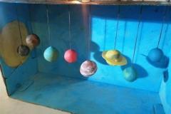praca plastyczna przedstawiająca kosmos