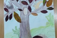 rysunek jesiennego drzewa