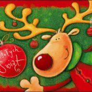 świąteczny renifer